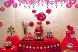 中式婚礼甜品台
